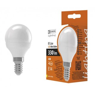 LED  sijalica EMOS MINI GLOBE 4W E14 WW