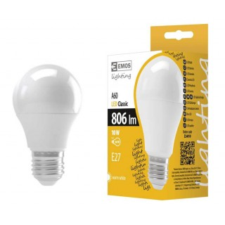LED  sijalica EMOS BASIC A60 10W E27 WW
